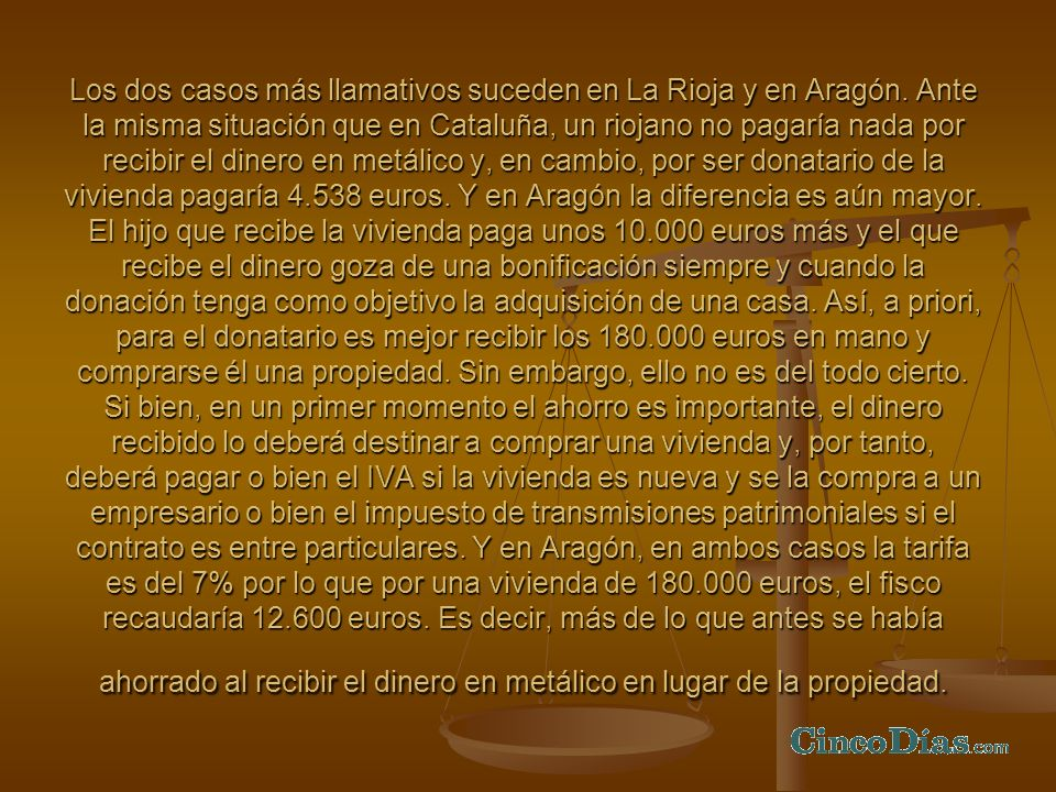 Los dos casos más llamativos suceden en La Rioja y en Aragón