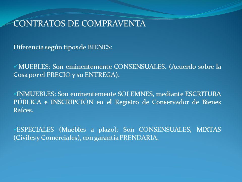 CONTRATOS DE COMPRAVENTA
