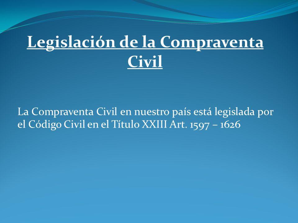 Legislación de la Compraventa Civil