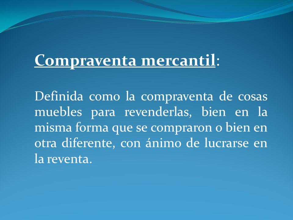 Compraventa mercantil:
