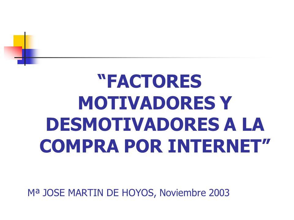 FACTORES MOTIVADORES Y DESMOTIVADORES A LA COMPRA POR INTERNET