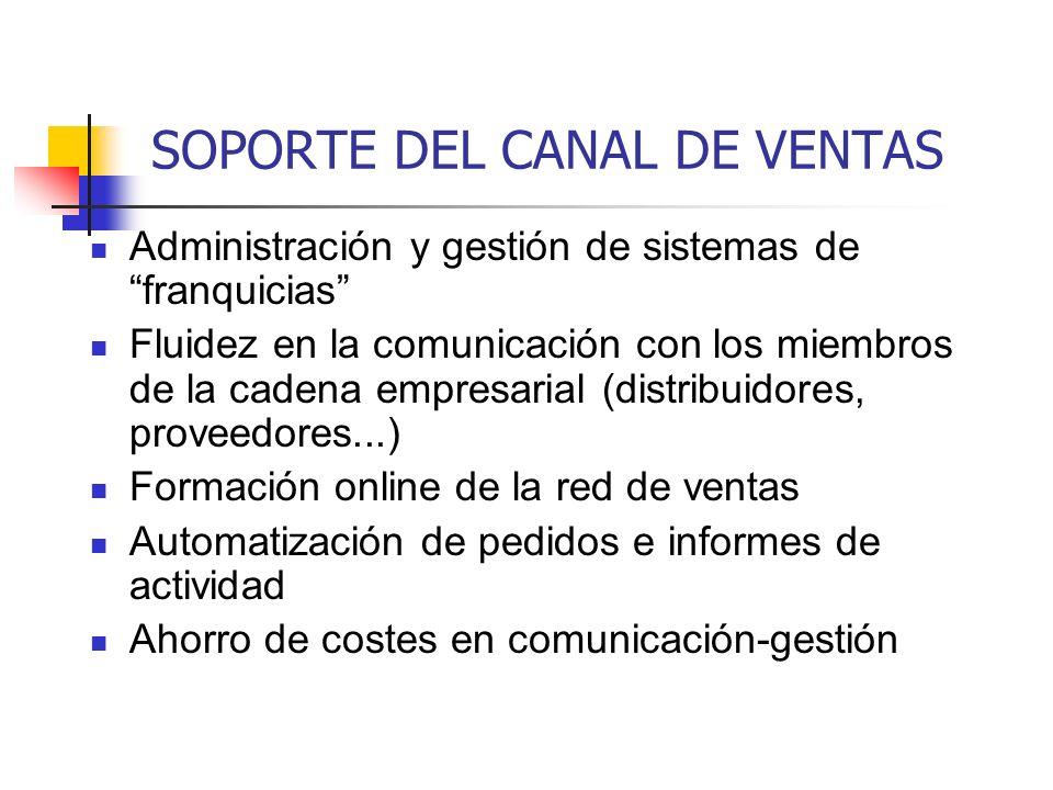 SOPORTE DEL CANAL DE VENTAS