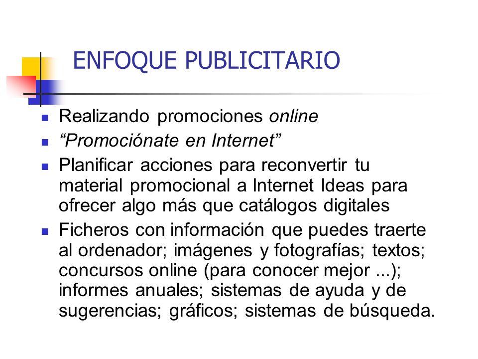 ENFOQUE PUBLICITARIO Realizando promociones online