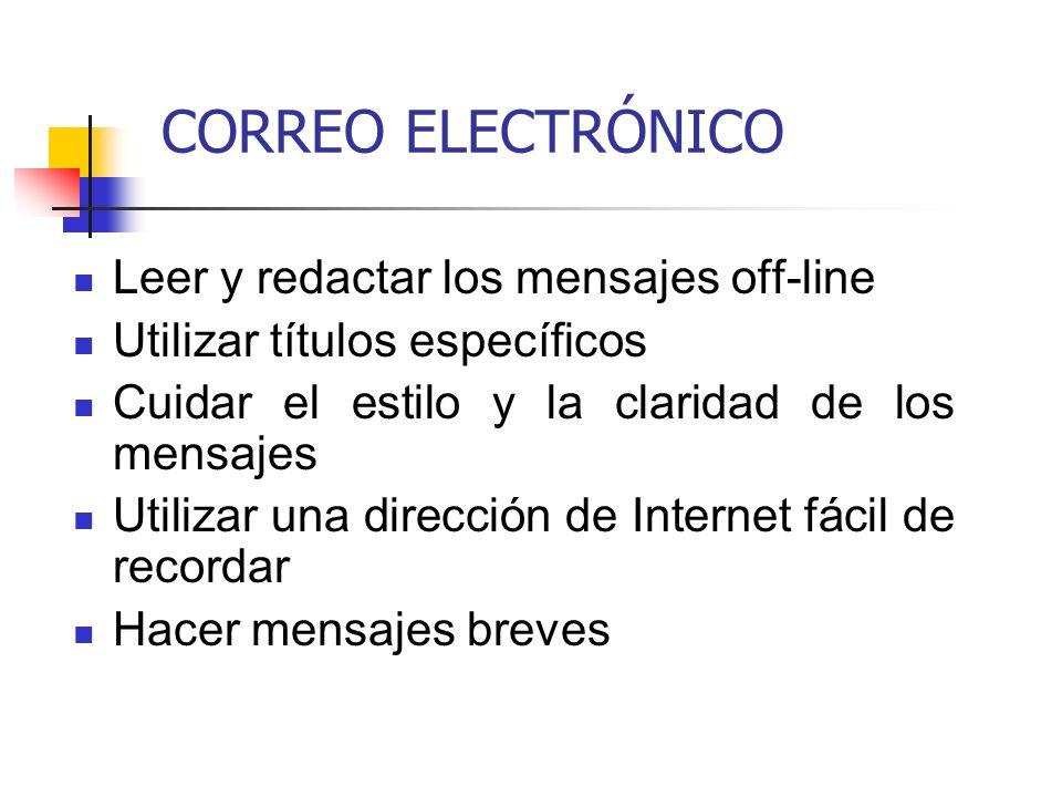 CORREO ELECTRÓNICO Leer y redactar los mensajes off-line