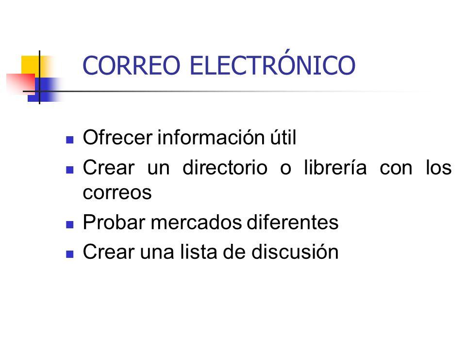 CORREO ELECTRÓNICO Ofrecer información útil