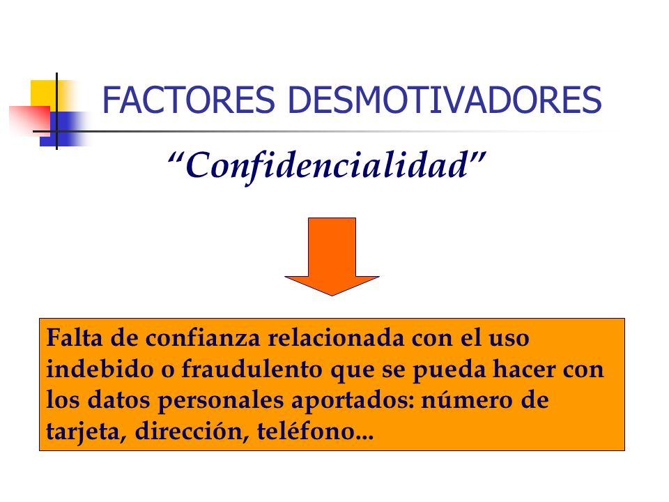 FACTORES DESMOTIVADORES