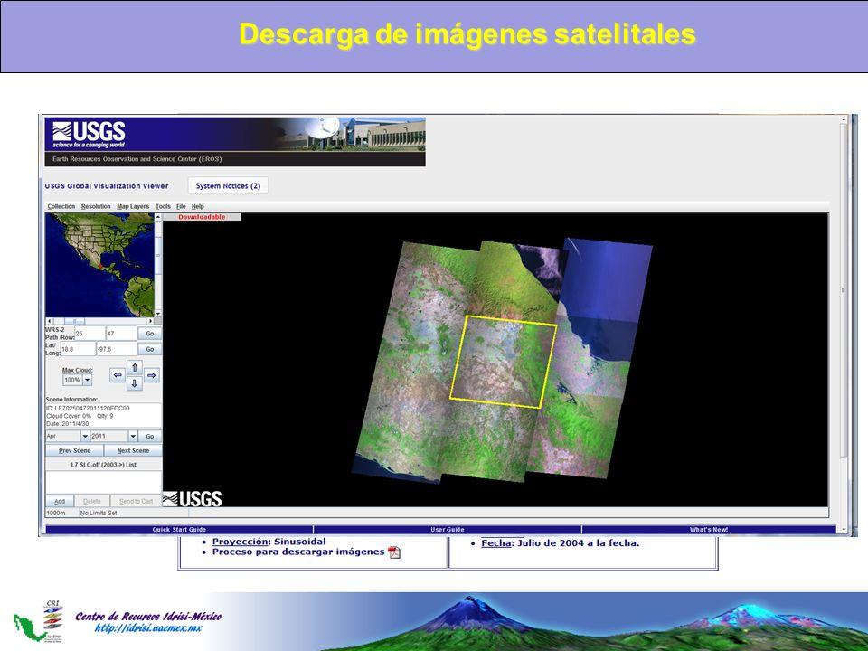 Descarga de imágenes satelitales