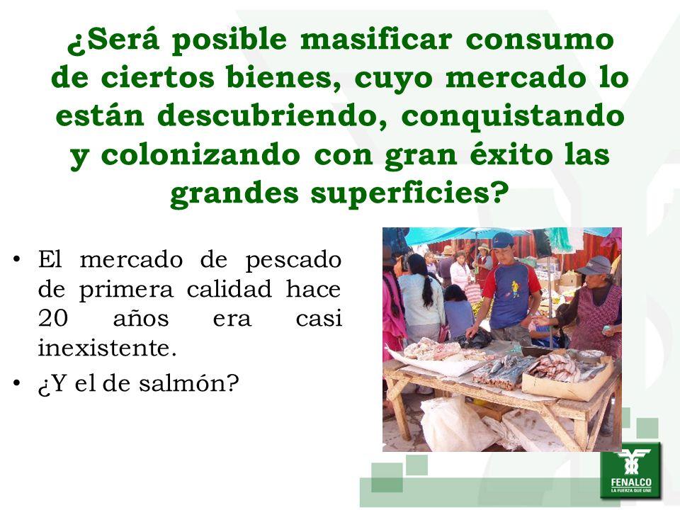 ¿Será posible masificar consumo de ciertos bienes, cuyo mercado lo están descubriendo, conquistando y colonizando con gran éxito las grandes superficies