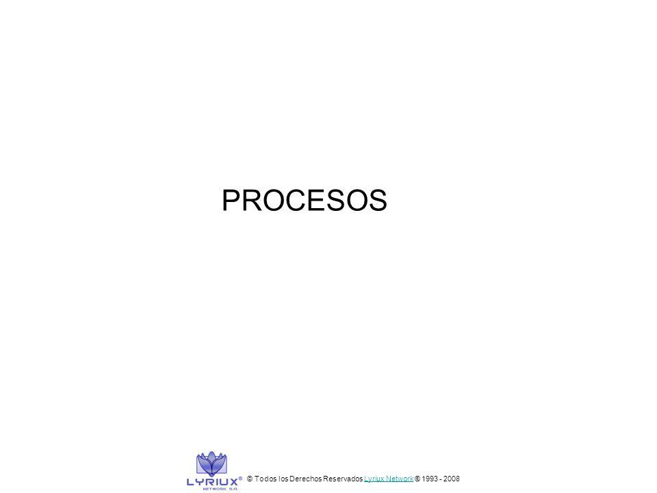 PROCESOS © Todos los Derechos Reservados Lyriux Network ® 1993 - 2008