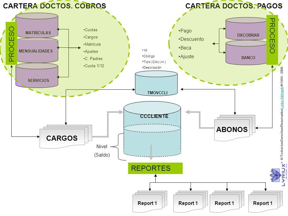 CARTERA DOCTOS. COBROS CARTERA DOCTOS. PAGOS PROCESO PROCESO ABONOS