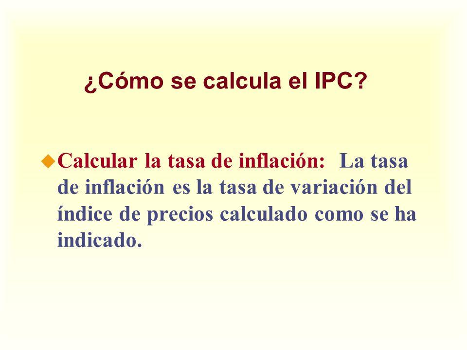 ¿Cómo se calcula el IPC