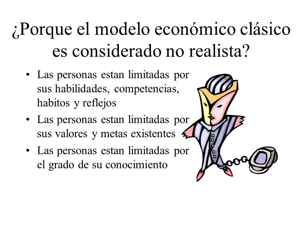 ¿Porque el modelo económico clásico es considerado no realista