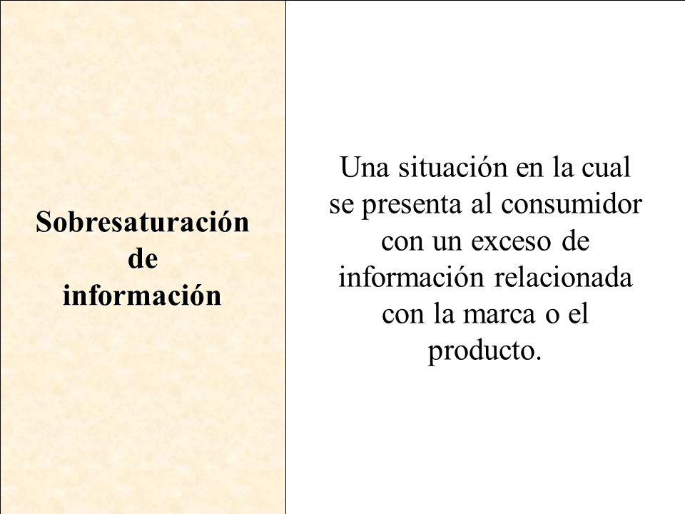 Sobresaturación de. información.