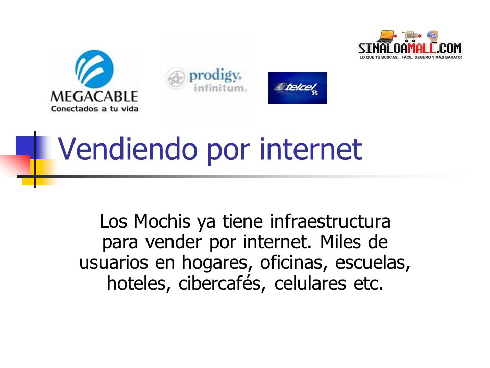 Vendiendo por internet