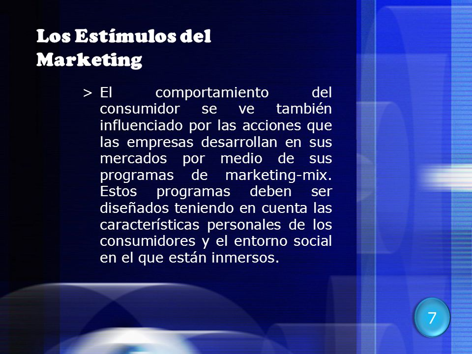 Los Estímulos del Marketing