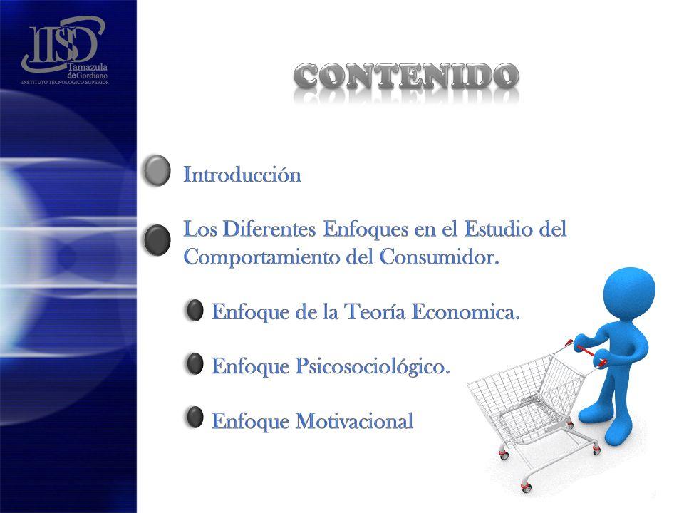 CONTENIDO Introducción Los Diferentes Enfoques en el Estudio del Comportamiento del Consumidor.