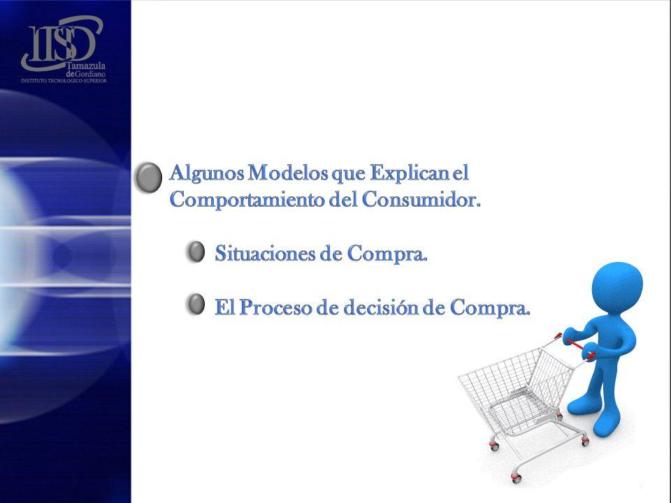 Algunos Modelos que Explican el Comportamiento del Consumidor.