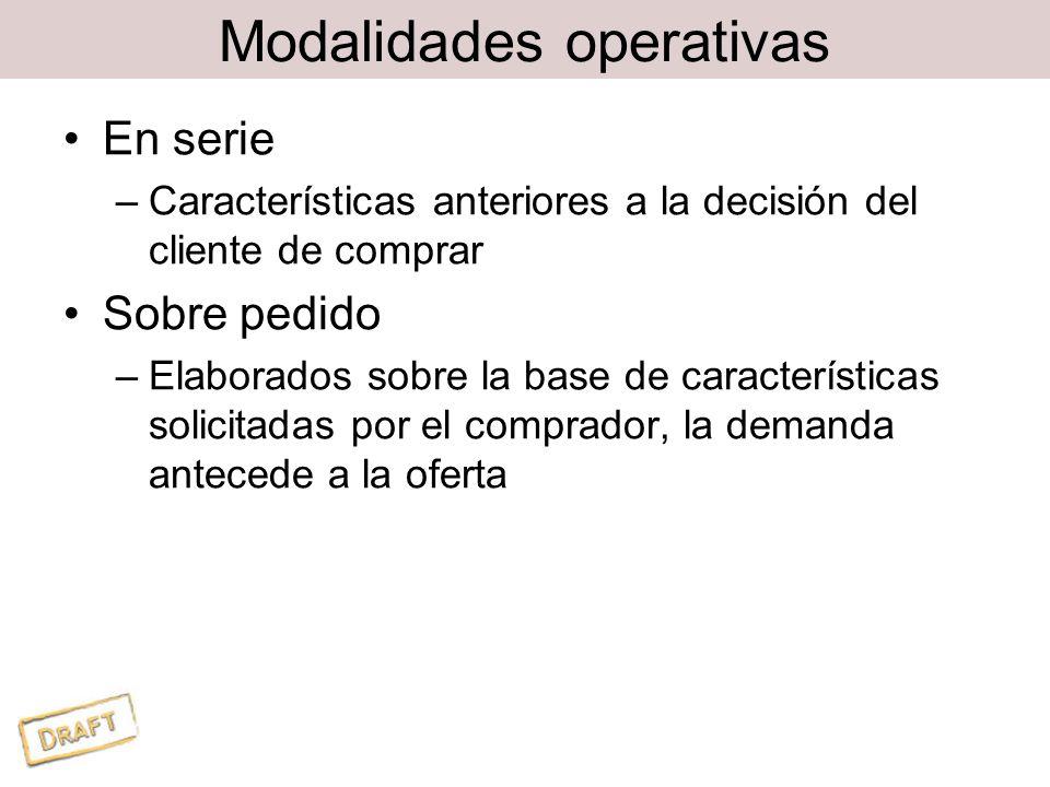 Modalidades operativas