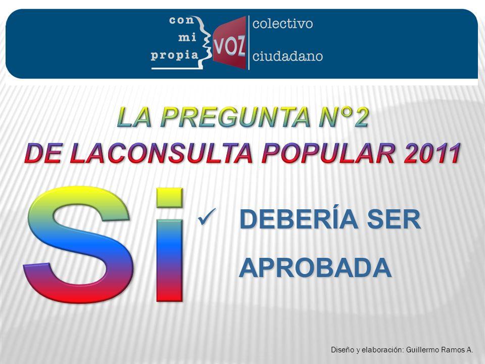 DEBERÍA SER APROBADA LA PREGUNTA N°2 DE LACONSULTA POPULAR 2011 Si .