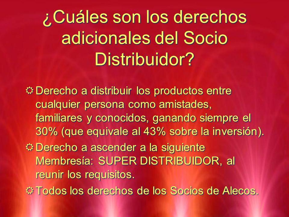 ¿Cuáles son los derechos adicionales del Socio Distribuidor