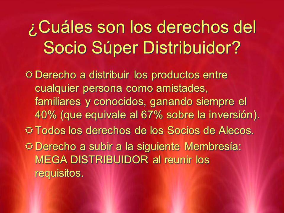 ¿Cuáles son los derechos del Socio Súper Distribuidor