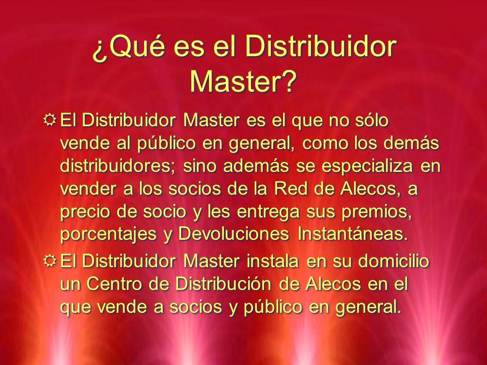 ¿Qué es el Distribuidor Master