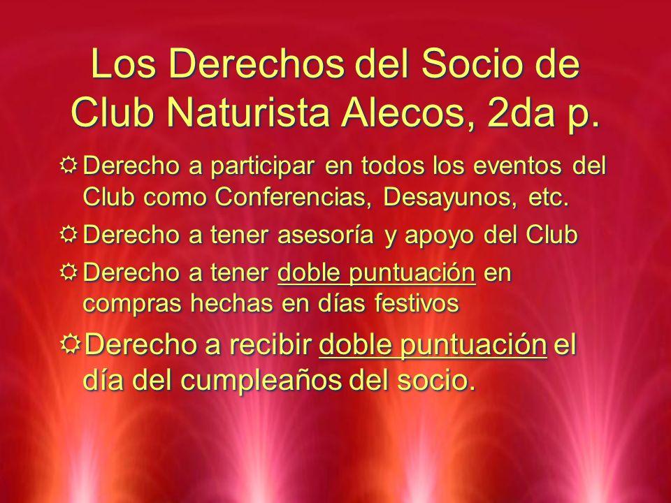 Los Derechos del Socio de Club Naturista Alecos, 2da p.