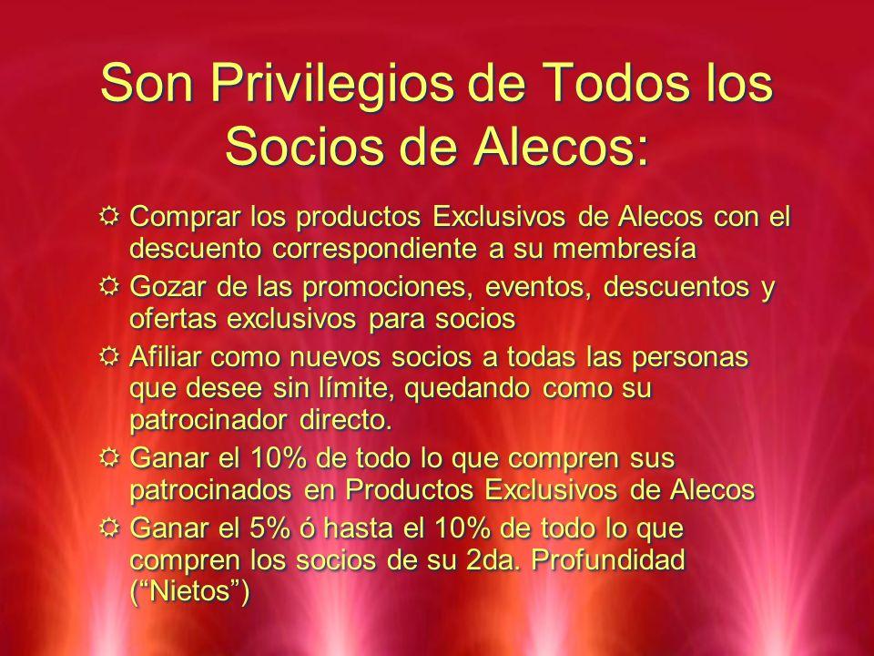 Son Privilegios de Todos los Socios de Alecos: