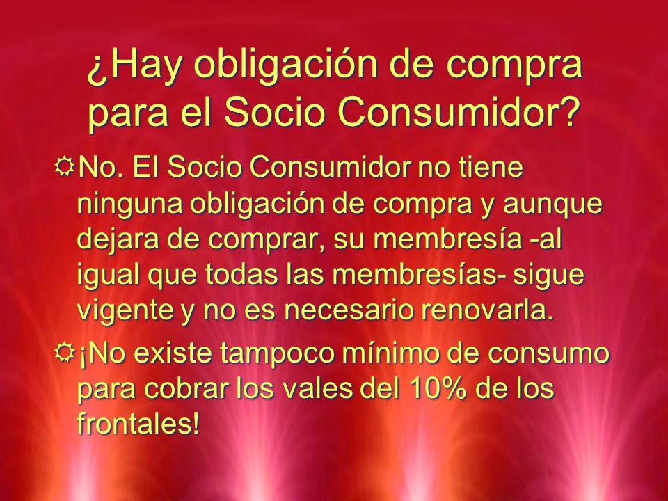 ¿Hay obligación de compra para el Socio Consumidor