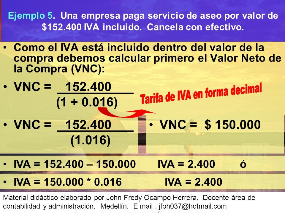 Tarifa de IVA en forma decimal
