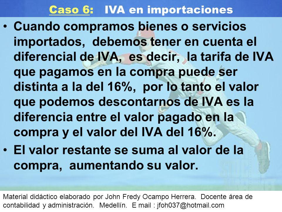 Caso 6: IVA en importaciones