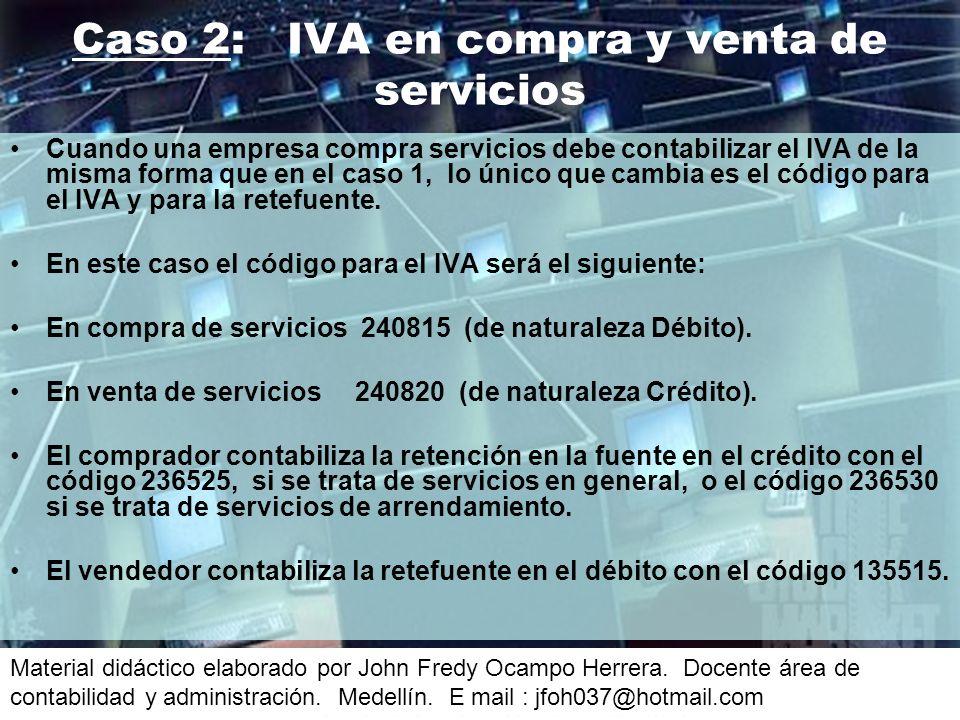 Caso 2: IVA en compra y venta de servicios