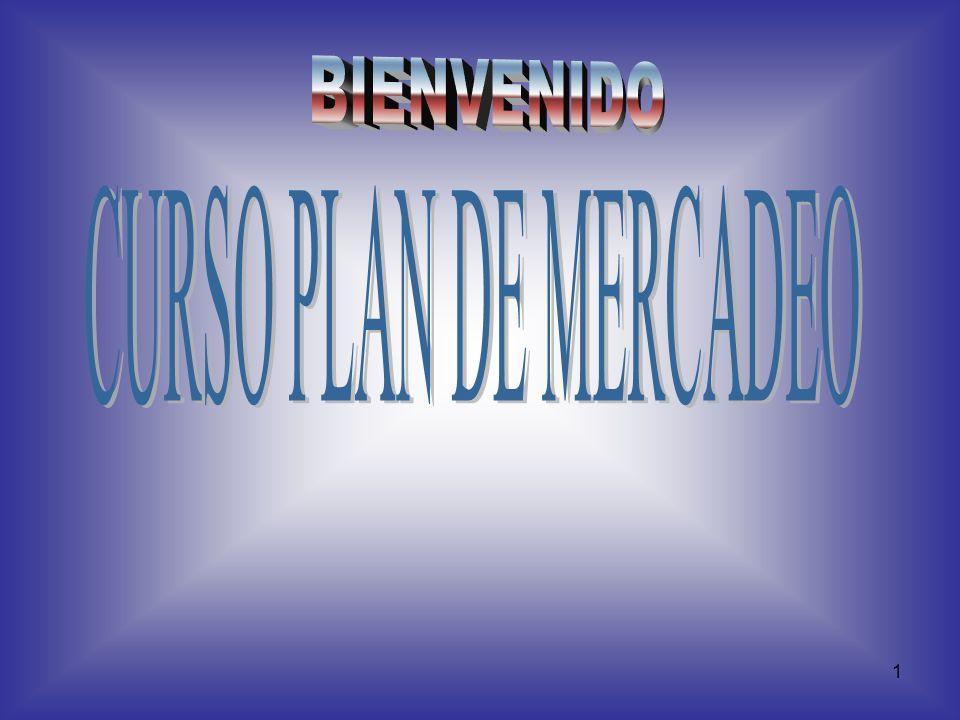 BIENVENIDO CURSO PLAN DE MERCADEO