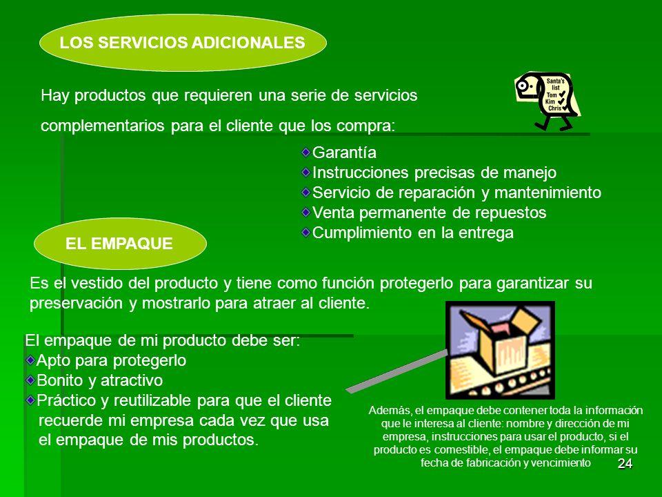 LOS SERVICIOS ADICIONALES