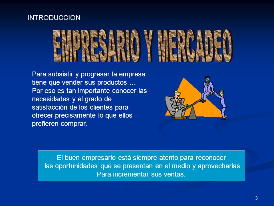 EMPRESARIO Y MERCADEO INTRODUCCION