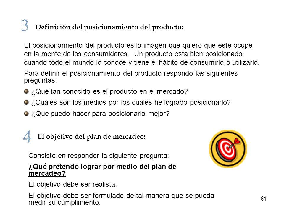 Definición del posicionamiento del producto:
