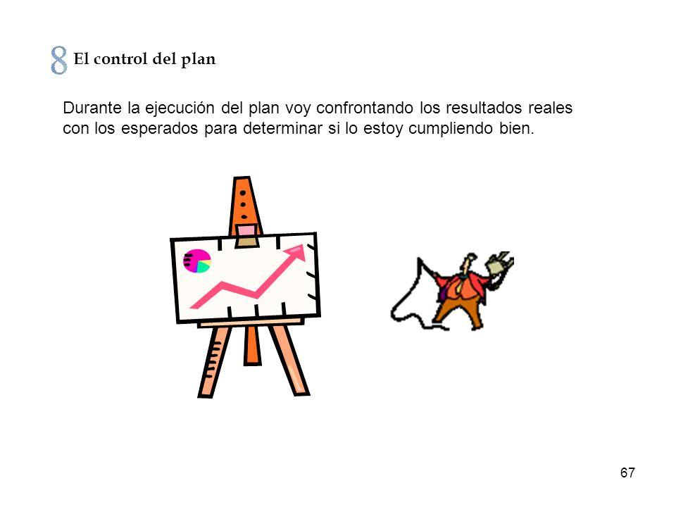 El control del plan