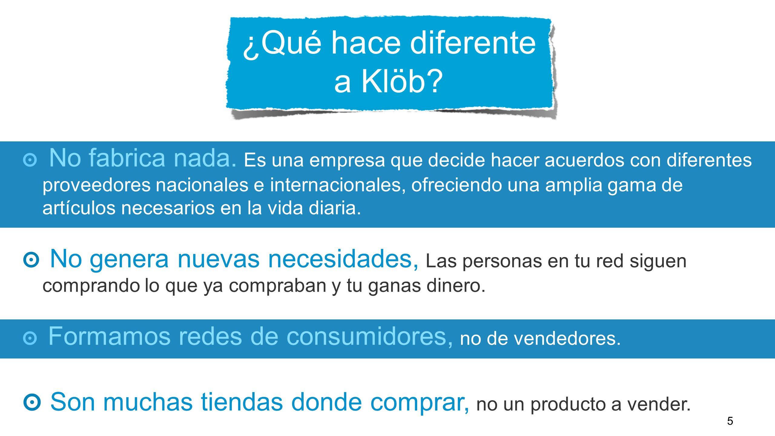 ¿Qué hace diferente a Klöb