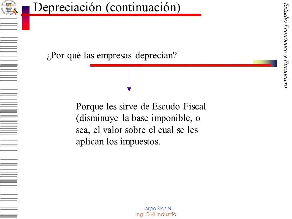 Depreciación (continuación)
