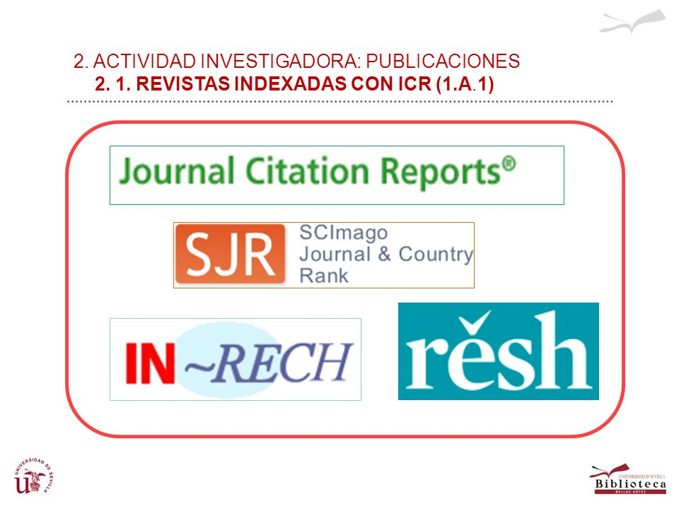 2. ACTIVIDAD INVESTIGADORA: PUBLICACIONES