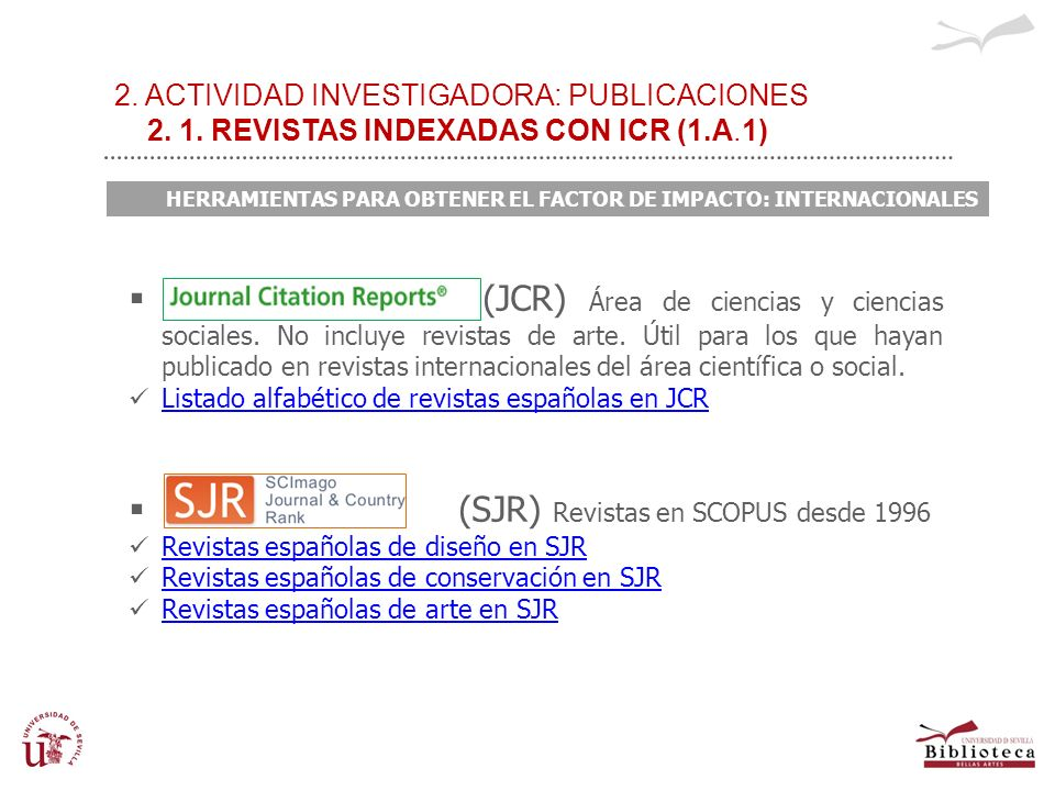 (SJR) Revistas en SCOPUS desde 1996