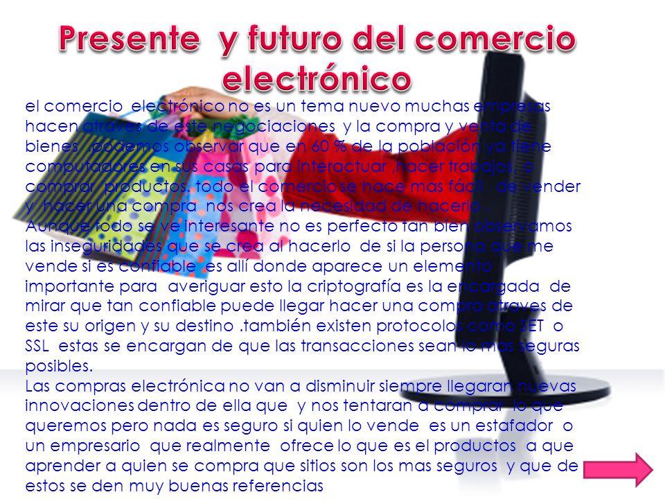 Presente y futuro del comercio electrónico