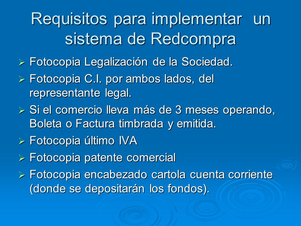 Requisitos para implementar un sistema de Redcompra