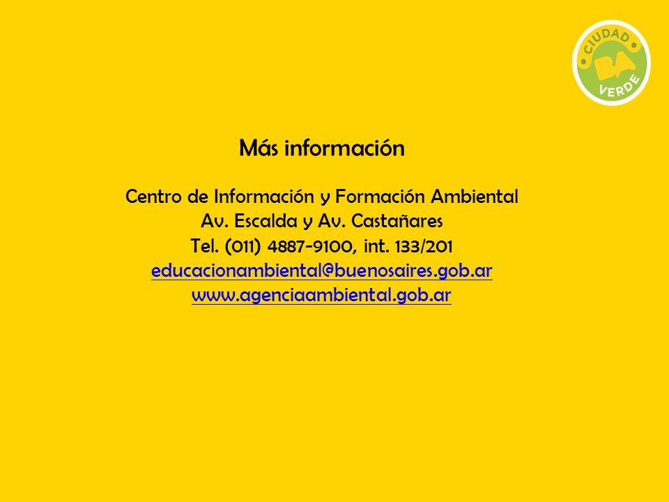 Más información Centro de Información y Formación Ambiental