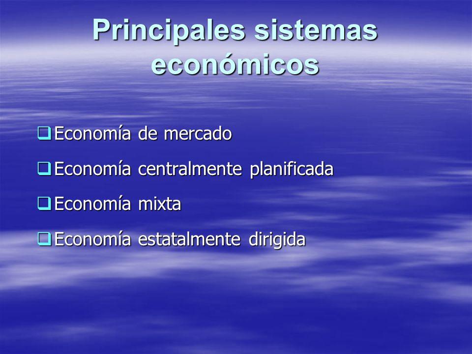 Principales sistemas económicos