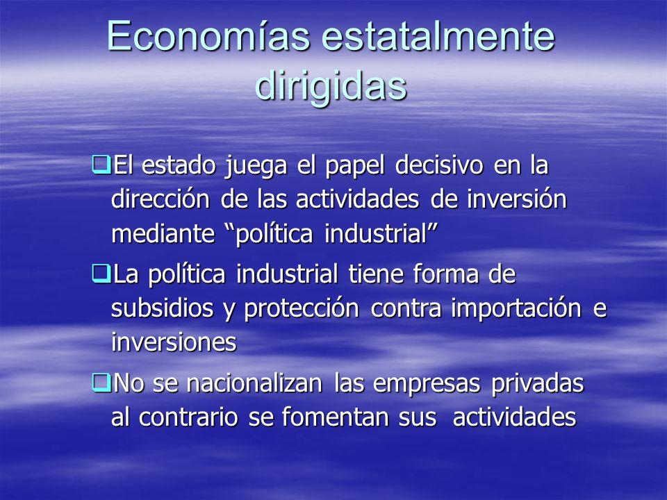 Economías estatalmente dirigidas