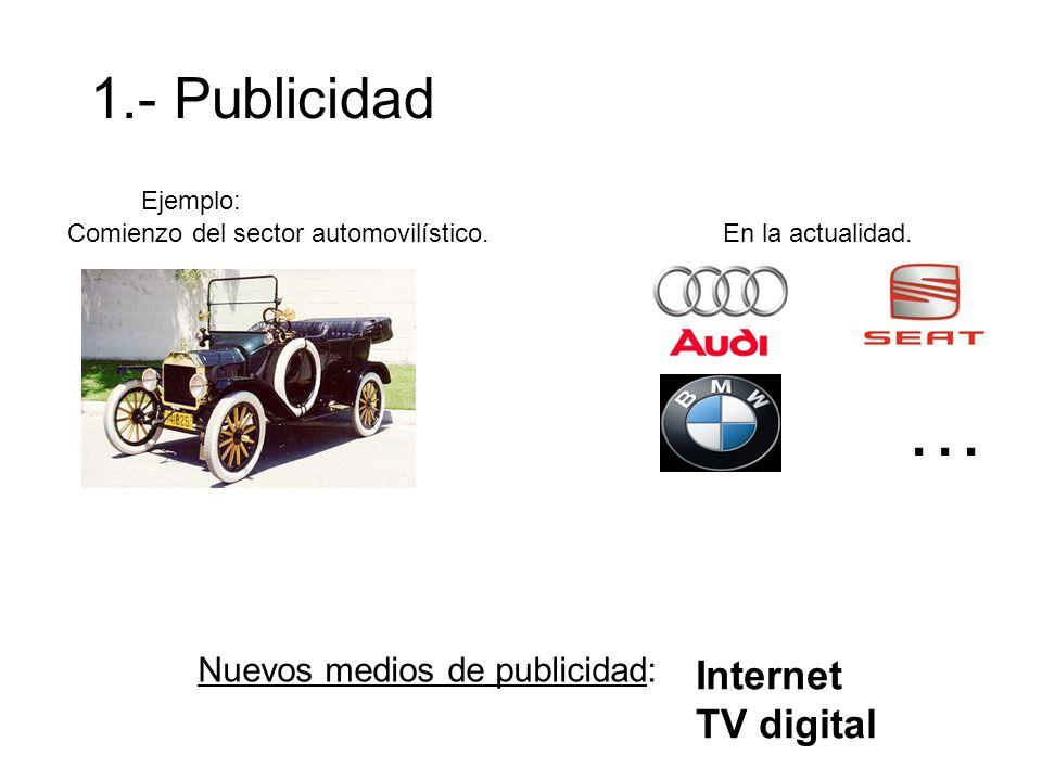 … 1.- Publicidad Internet TV digital Nuevos medios de publicidad: