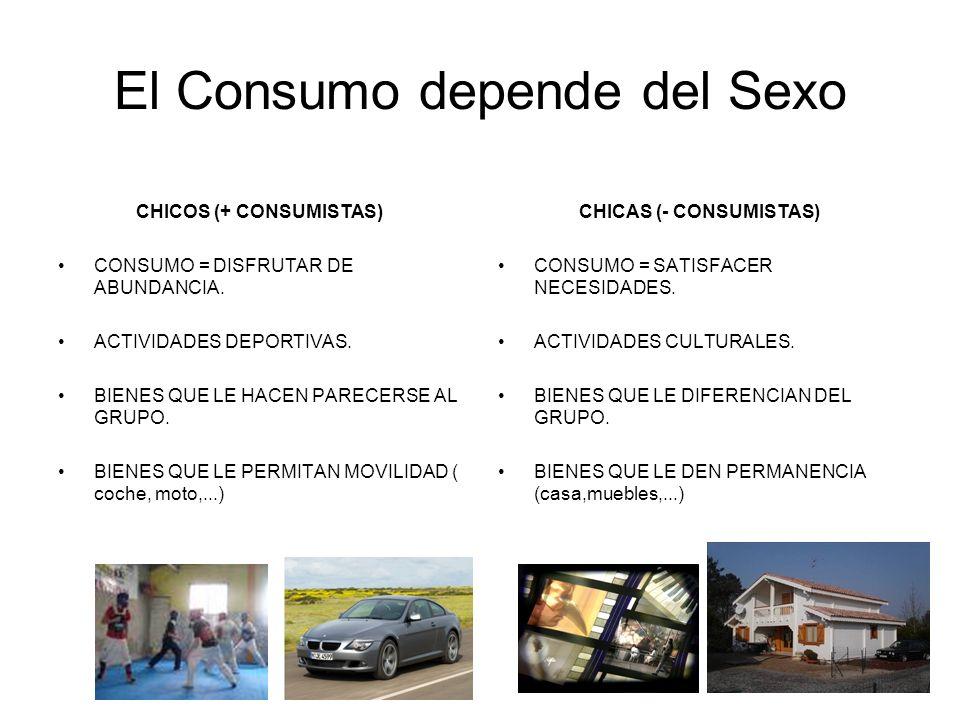 El Consumo depende del Sexo