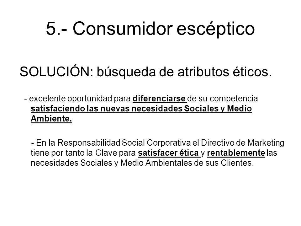 5.- Consumidor escéptico