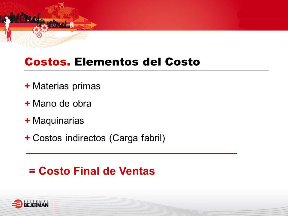 Costos. Elementos del Costo